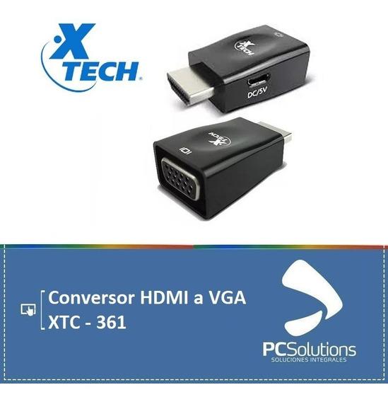 Adaptador Conversor Xtech - Hdmi (m) A Vga (h) - Xtc-361