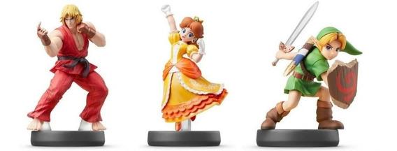 3 Amiibos: Ken + Daisy + Young Link Super Smash Bros Switch