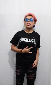 Playera Juvenil Rock Metallica
