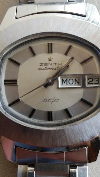 Relogio Zenith Automatico,duplo Calendario,todo En Aco,44mm