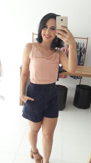 Conjunto Feminino Blusa Alcinha Short Bolso Lateral 2019