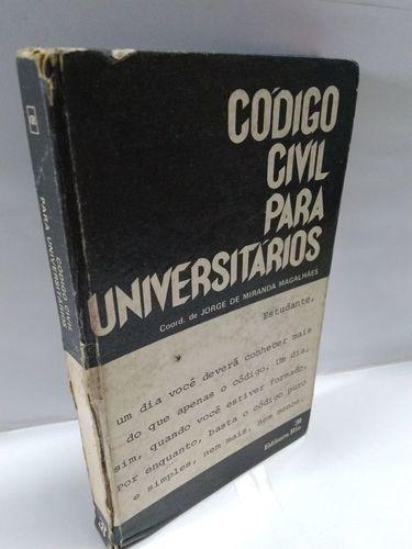 Livro Código Civil Para Universitários - Foto Real