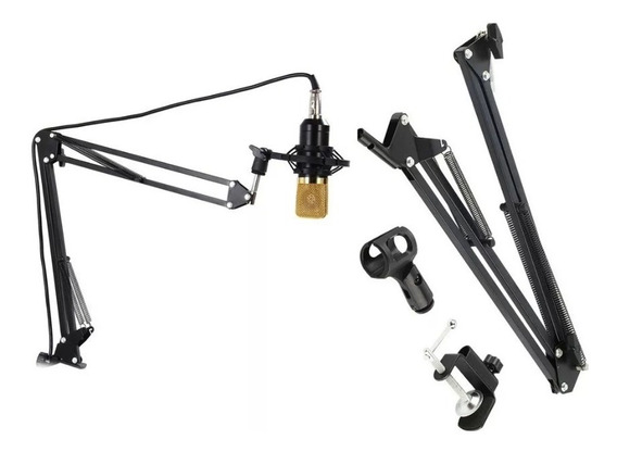 2 Pedestal Suporte Mesa Articulado P/ Microfone Estúdio Nb35