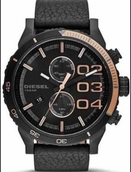 Relógio Diesel Dz4327 Pulseira De Couro Na Caixa Novo