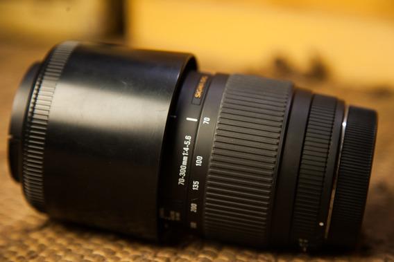 Lente Sigma (canon) 70-300mm F4-5.6