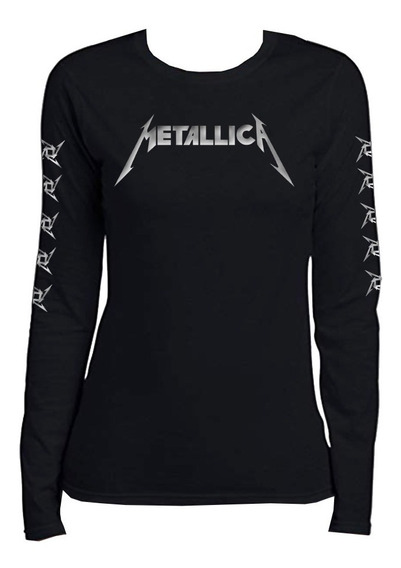 Metallica Playera Manga Larga Para Dama Mod2