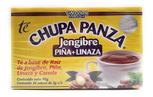 Te Chupa Panza Jengibre Linaza 30 Sobres Gn + Vida Envio Hoy