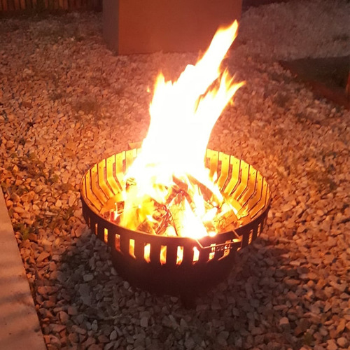 Fogonero Brasero Circular Bosca Fire Pit 60 Cm Asador Diam