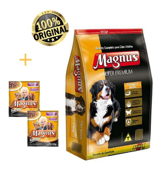 Maguns Super Premium Adulto Frango/arroz 15kg + Brinde