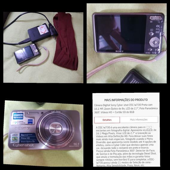 Máquina Fotografica Sony (8gb De Memória, Filme Hd, Etc...