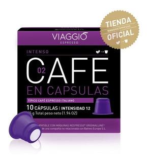Capsula Café Viaggio Intenso Compatible Con Nespresso X10u