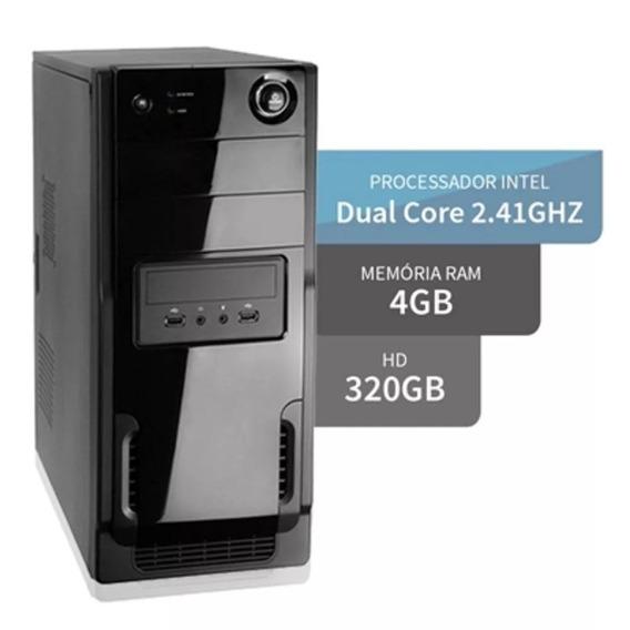 Computador Intel Dual Core 4gb Hd 320gb+ Kit Fretegrátis