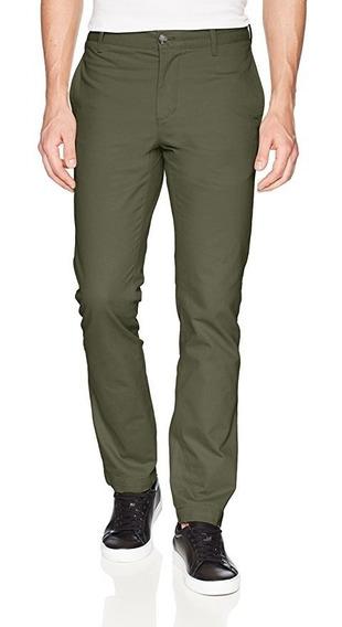 Exclusivo Pantalon Chino Lacoste 33x32 34x34 Verde Militar