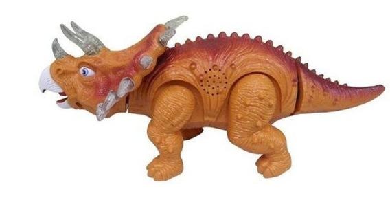 Coleção Dinossauros - Triceratops Com Som E Luz - Zoop Toys