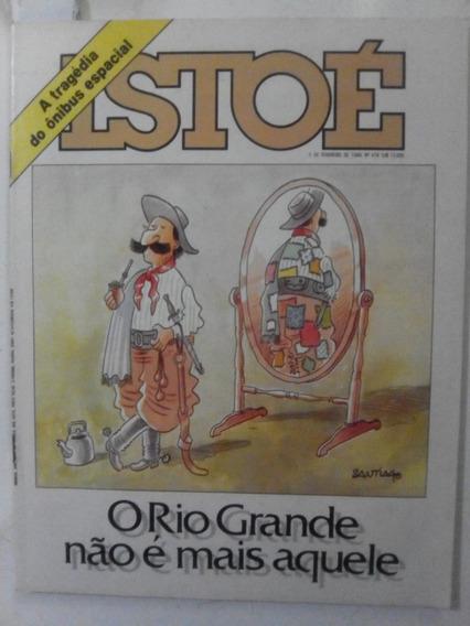 Revista Istoé 476 Carnaval Império Elza Rio Grande Sul 1986