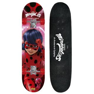 Skate Miraculous Ladybug C Acessórios Segurança Fun Vermelho