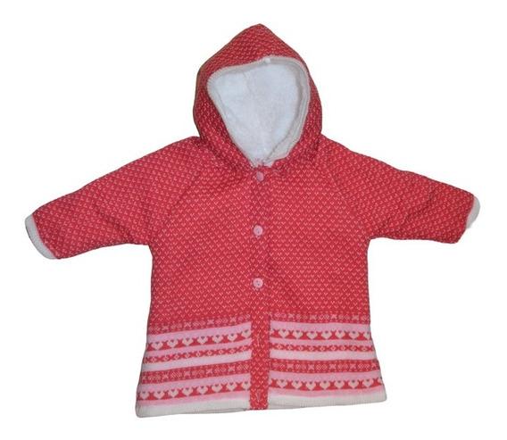 Chamarra Corazones Doble Forro Sweater Bebe Niña Coral