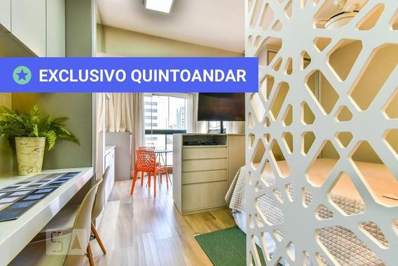 Studio No 5º Andar Mobiliado Com 1 Dormitório E 1 Garagem - Id: 892972258 - 272258