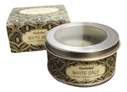 Imagem 1 de 4 de Vela Aromatica Indiana Goloka Duração De 6 Horas White Sage
