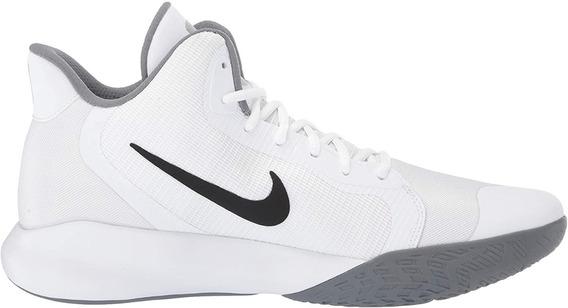 Tenis Nike Precision Lll Blanco Hombre Básquetbol Aq7495-100