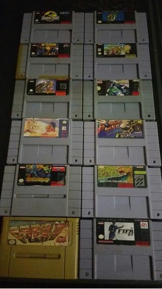 Fitas De. Super Nintendo 6 Original 400 Todas