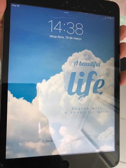 iPad Mini 2 Wi-fi 32gb Com Tela Trincada, Mas Funcionando