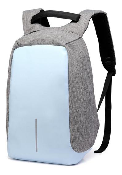 Mochila Antirrobo Usb Impermeable Escolar Laptop 15 Color