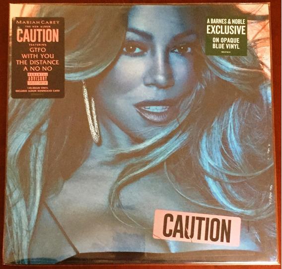 Mariah Carey Vinyl Caution 1lp Azul Limitado Lacrado Import
