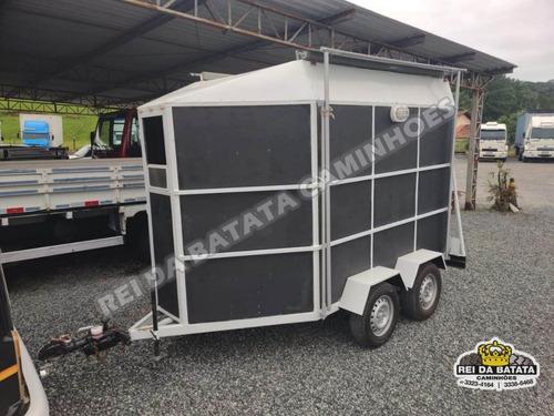 Reboque Carretinha Transporte De Cavalos 2 Eixos Semi Nova