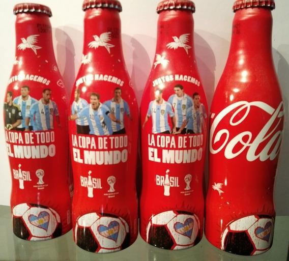 Coca Cola Copa Del Mundo 2014 Brasil Colección 4 Unidades