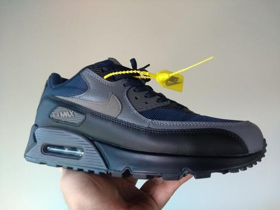 Tênis Nike Air Max 90 2019 Azul Preto 537384-426 Tamanho 40