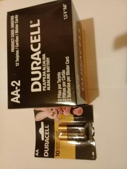 Pilha Duracell Aa-2 (pequena) Caixa Fechada Com 24 Pilhas