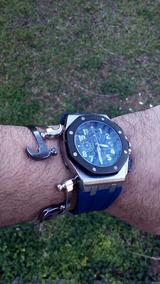 Relógio A Bateria Cronógrafo Quartz Azul Royal - Leia