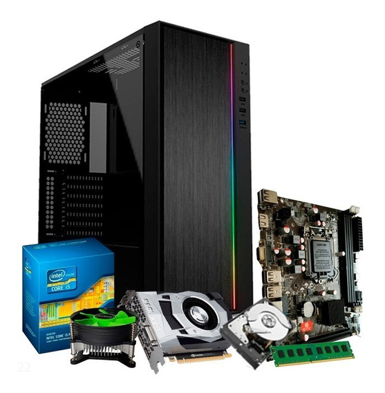 Cpu Gamer Intel I5, 8gb, 500gb, Geforce 4gb 1050 Gtx Ti