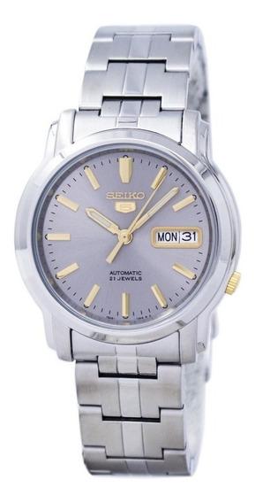 Reloj Seiko Snkk67k1 Automático Plateado-dorado De Caballero
