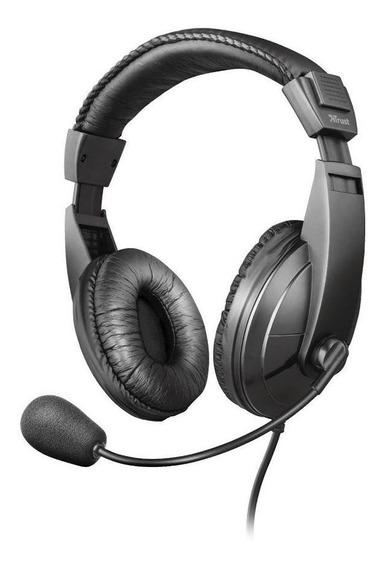 Headset Trust Quasar Stereo Com Fio Pc Pronta Entrega