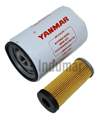 Filtro De Óleo Lubrificante E Combustivel Yanmar Btd22 Btd33