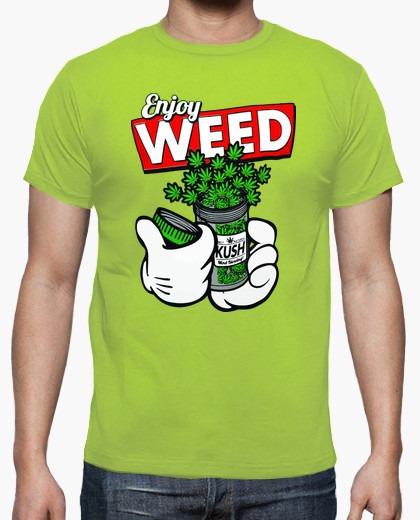Playera Camiseta Tendencia Enjoy Weed Guantes Drugs Moda