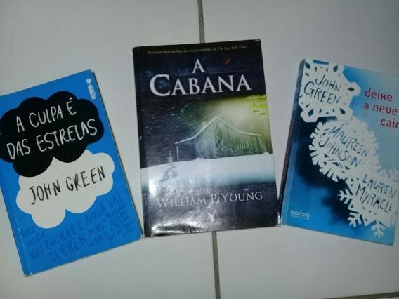 Livros - A Culpa É Das Estrelas+ Deixe A Neve Cair+ A Cabana