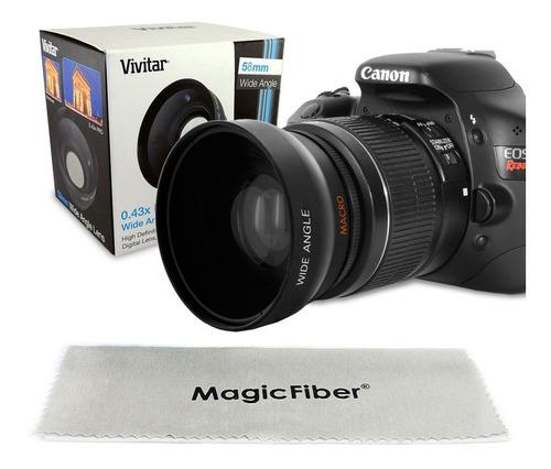 Gran Angular 58mm Lente 0.43x + Macro, Para Canon