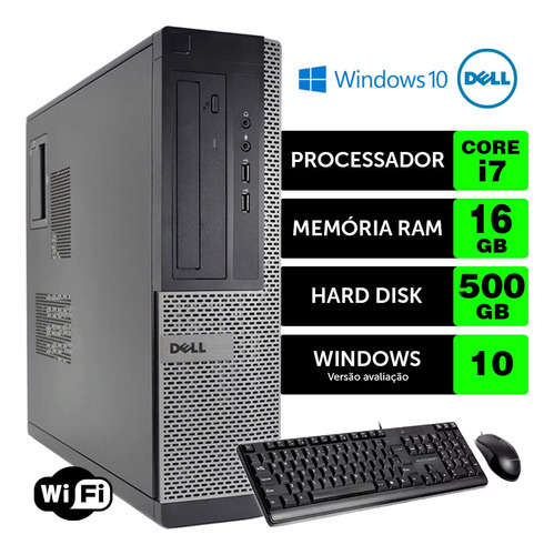 Cpu Barato Dell Optiplex Int I7 2g 16gb 500gb Brinde