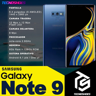 Samsung Galaxy Note 9 6+128gb 12+12mpx Android 8 Tecnoshoes