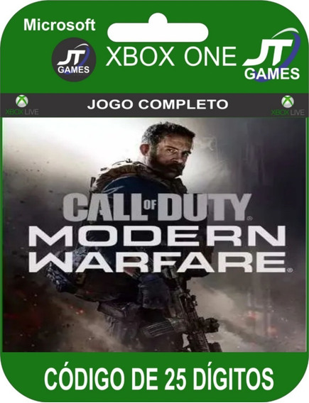 Call Of Duty Modern Warfare Lançamento Xbox One 25 Digitos