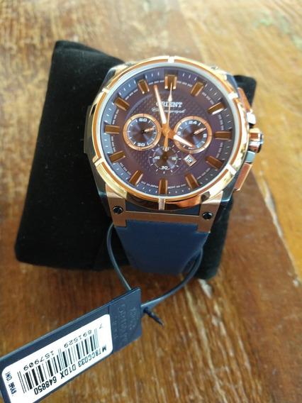 Relógio Orient Masculino Cronógrafo Novo