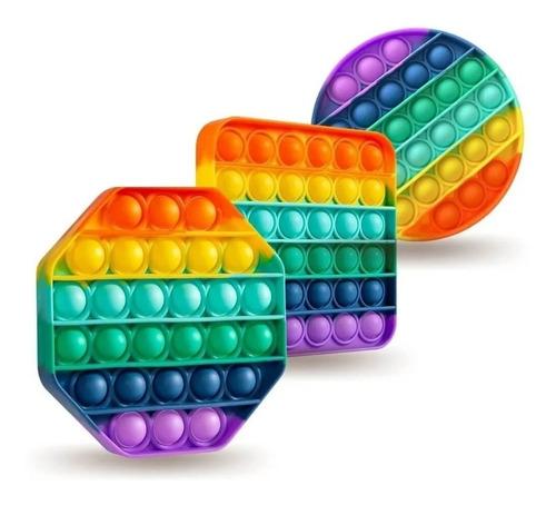 Popit Pop It Popits Multicolor Antiestrés Silicona Importado | TECNOFREE