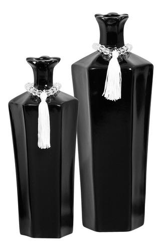 Promoção Lançamento Dupla De Vasos Decorativos P/ Aparador