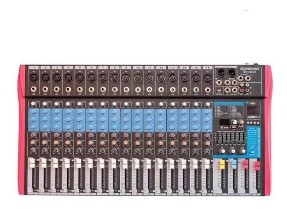 Mesa De Som Soundvoice Ms-162eux Bluetooth 16 Canais