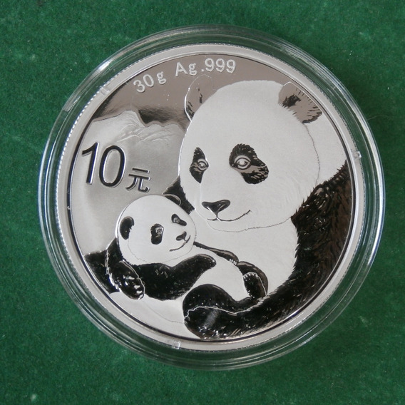 2019 1 Oz Plata Panda China Proof Espejo