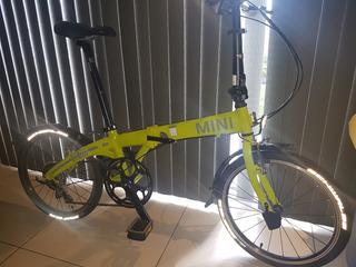 Bicicleta Plegable, Marca Mini Cooper, Con Accesorios