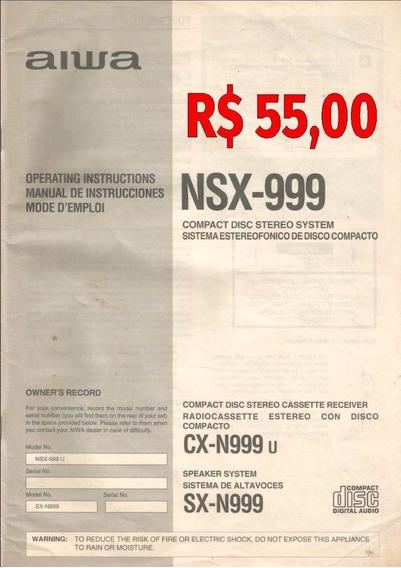 Manual Original Compact Disc Stereo System Aiwa - Nsx-999